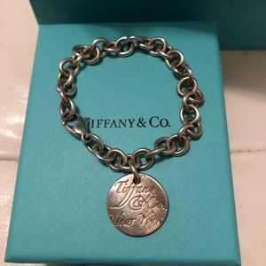 Tiffany & Co Note charm bracelet sterling silver